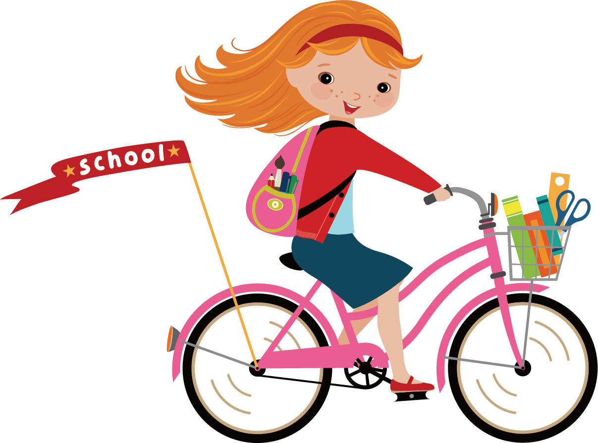 Girl on Bike image