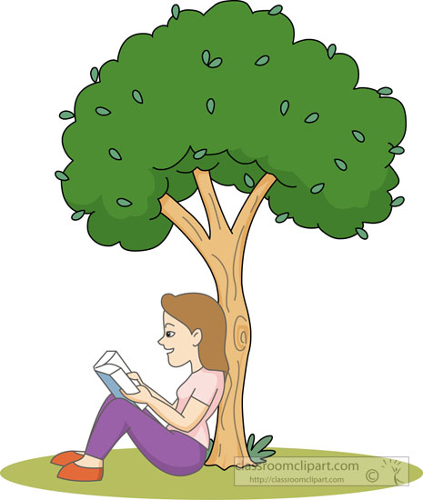 Reader under tree image